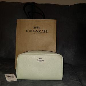 NWT Coach Green Cosmetic Case